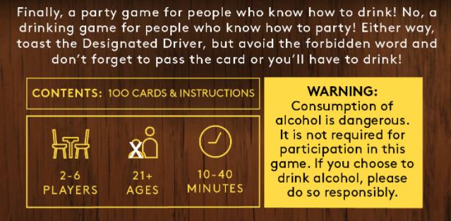 Drinking Fluxx Warning